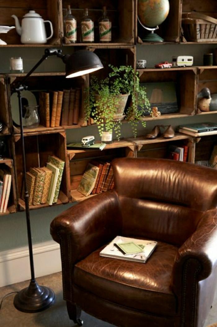 45 fantastische designs f r ledersessel - Wohnzimmer im retro look ...
