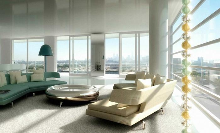 luxus-wohnzimmer-attraktive-weiße-gestaltung-gläserne-wände