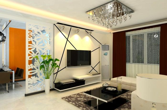luxus-wohnzimmer-attraktives-interieur-fernseher-an-der-wand