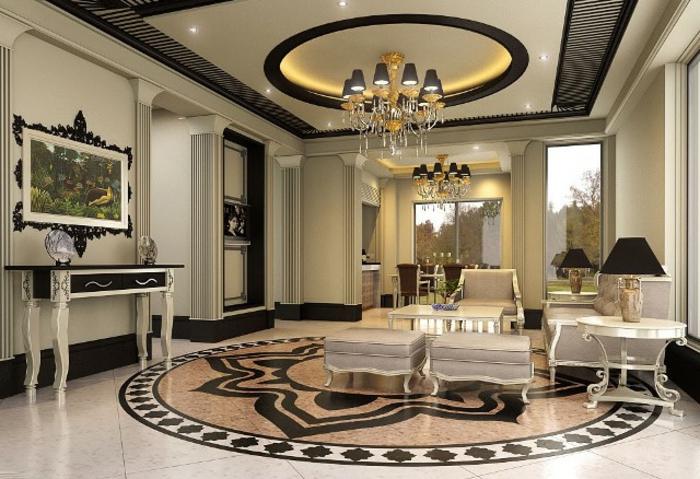 luxus-wohnzimmer-auffällige-zimmerdecke