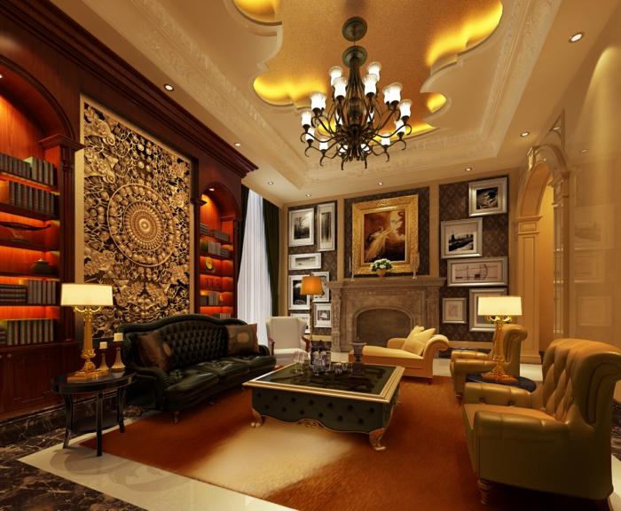 Luxus Wohnzimmer Gem U00fctliches Ambiente Exotisches