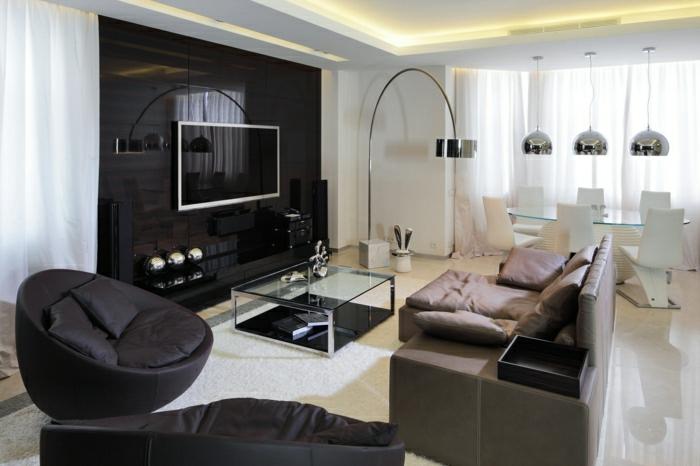 Tv Wandpaneel - 35 Ultra Moderne Vorschläge - Archzine.net Schlafzimmer Mit Fernseher Einrichten