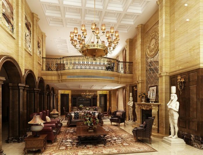 luxus-wohnzimmer-großartiges-modell-üppiger-kronleuchter