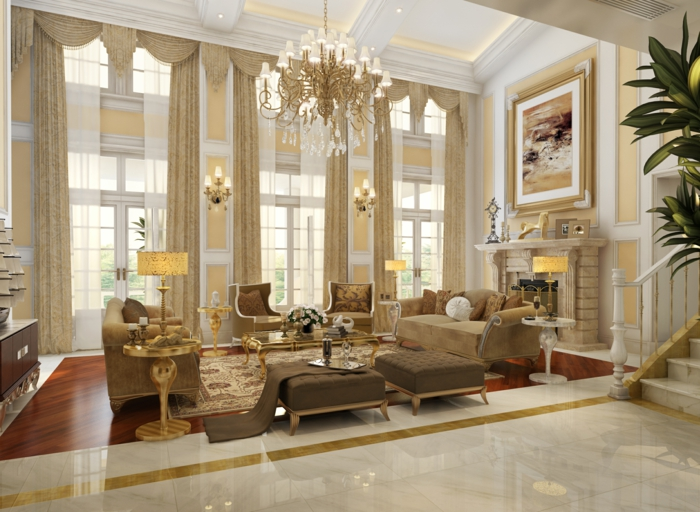 luxus-wohnzimmer-große-fenster-bild-an-der-wand