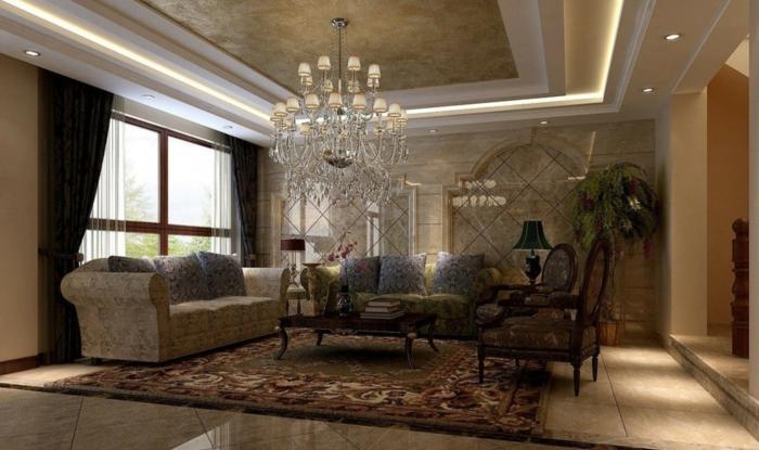 luxus-wohnzimmer-interessanter-lüster