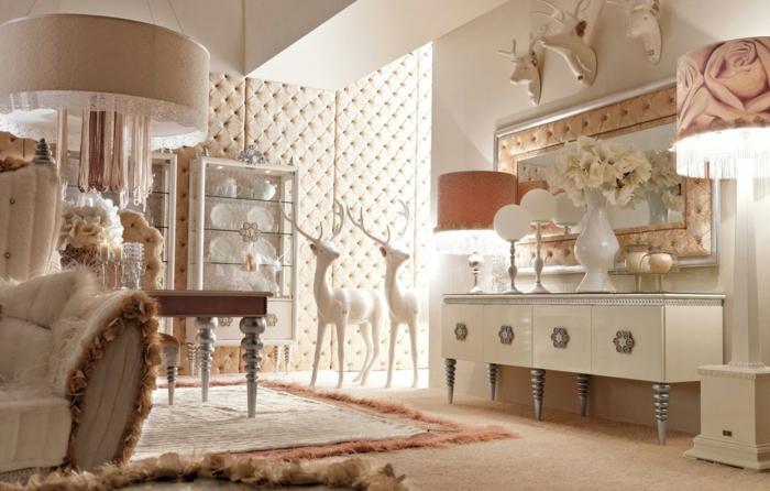 luxus-wohnzimmer-weiße-schränke