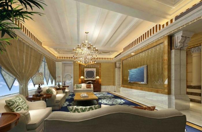 Luxus Wohnzimmer: 81 Verblüffende Interieurs! - Archzine.net Wohnzimmer Luxus Design