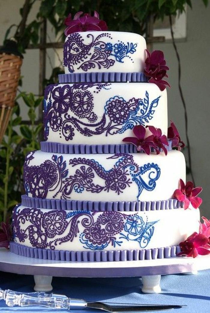 mädchen-torte-elegante-gestaltung-auf-vielen-etagen