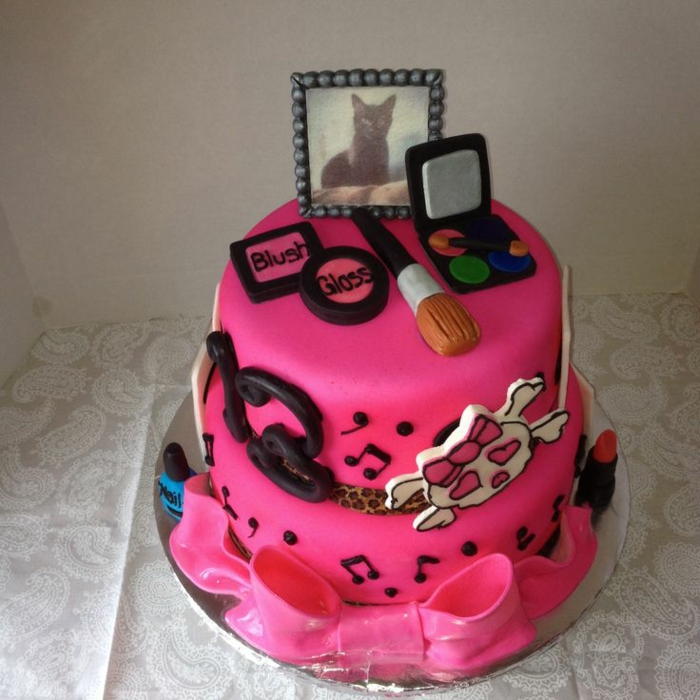 Square Birthday Cake For Ladies