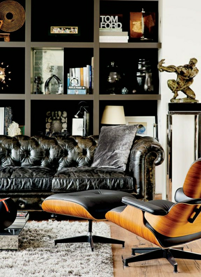 männliches-Design-Chesterfield-Sofa-Eames-Lounge-Chair