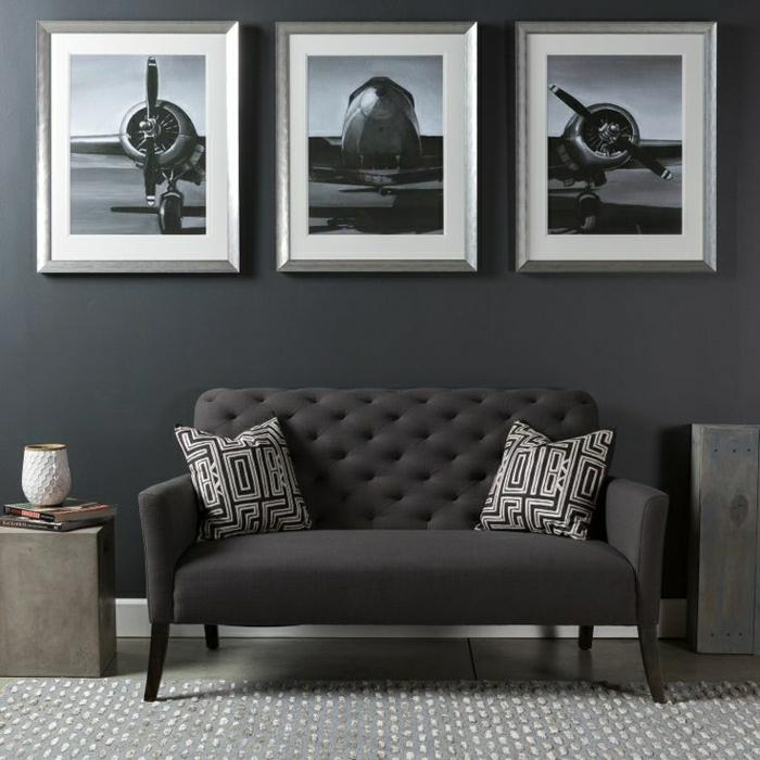 moderne wandbilder - 37 tolle einrichtungsideen damit - archzine, Wohnzimmer