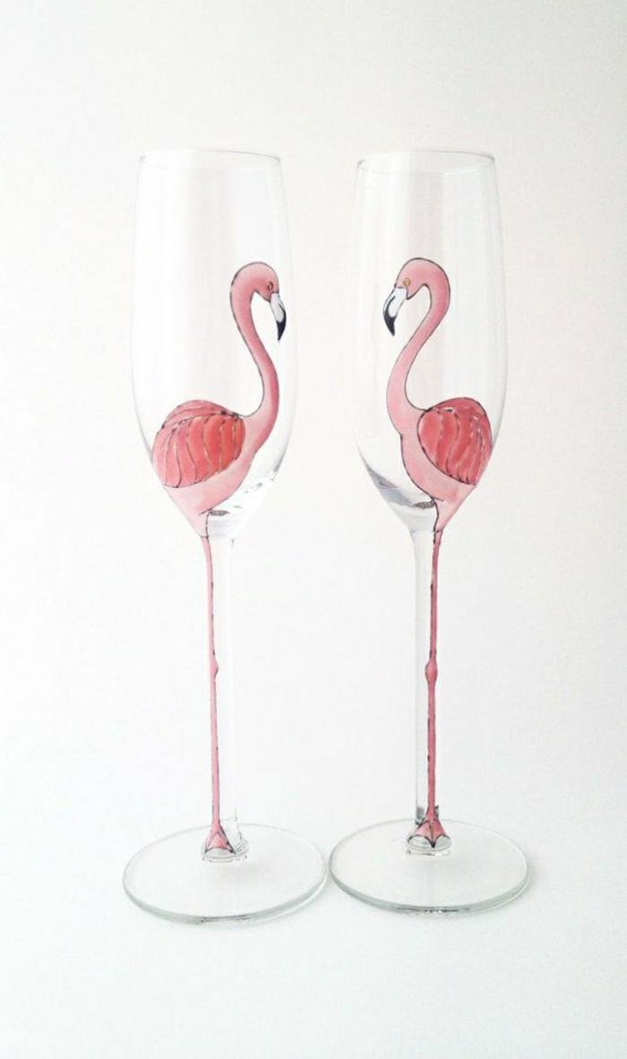 moderne-Sektgläser-Flamingo-Bild