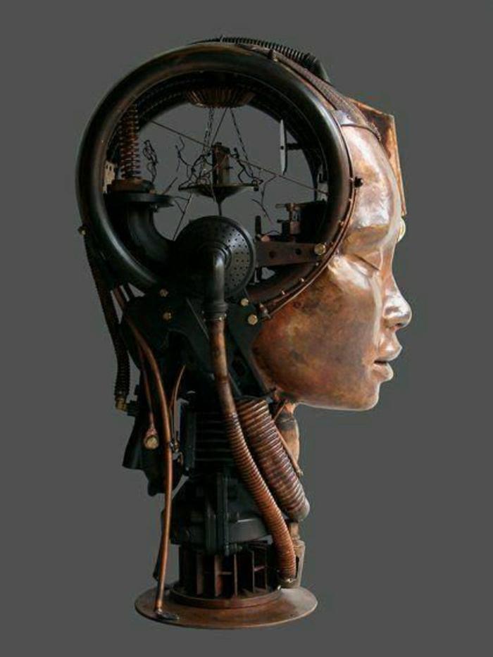 moderne-Skulptur-Metall-Hybrid