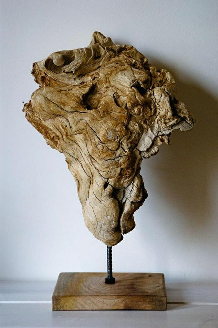 moderne-Skulpturen-Holz-natürliches-Geschöpf