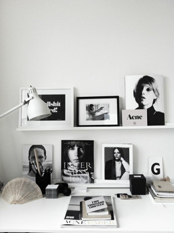 moderne-Wandbilder-schwarz-weiß-Frauen-Foto-Modelle