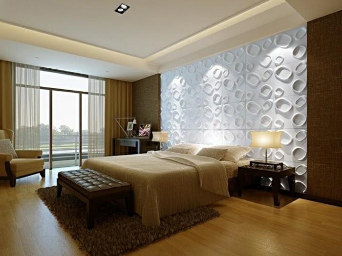schlafzimmer inspiration moderne einrichtung wandgestaltung wandpaneel wandpaneel 3d - Moderne Einrichtung 2015