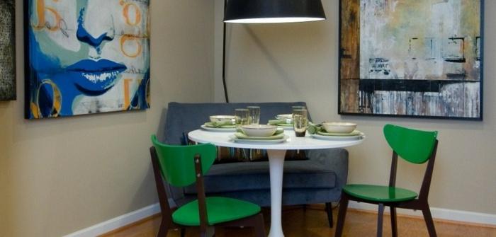 moderne-essecken-grüne-stühle
