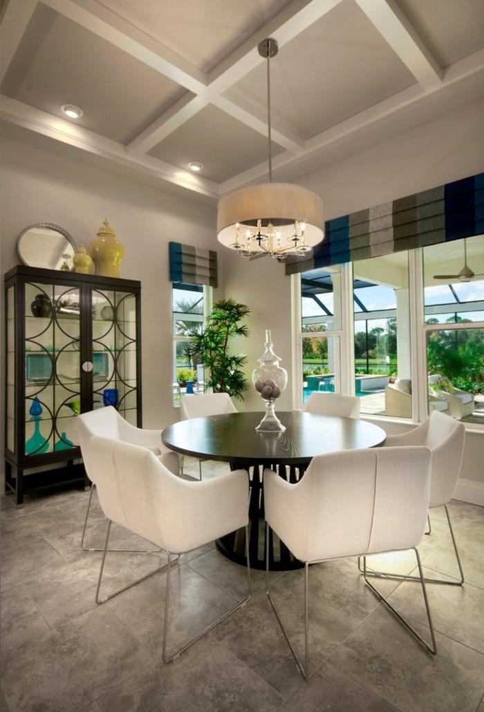 moderne-essecken-moderne-weiße-stühle
