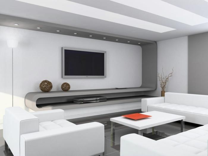 moderne inneneinrichtung wohnzimmer:moderne-inneneinrichtung-cooles-aussehen-vom-weißen-sofa