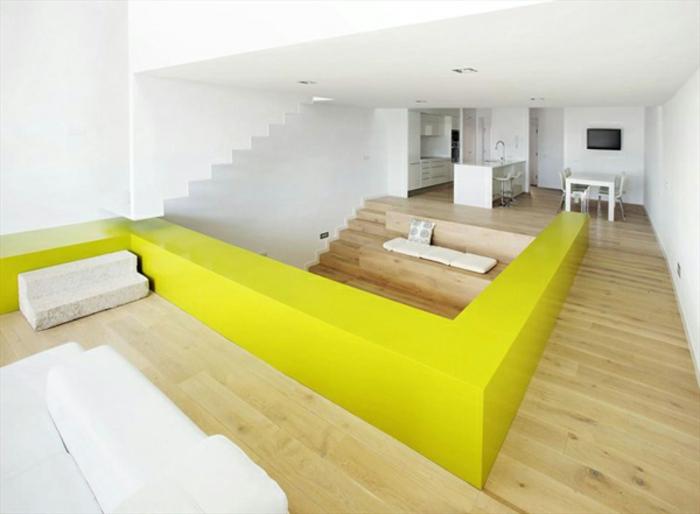 moderne-inneneinrichtung-gelbe-akzente