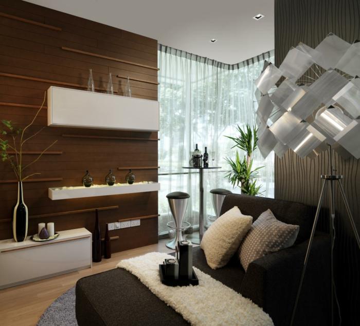Schwarz Weiß Vorhänge In Einem Modernen Interieur 21: Moderne Inneneinrichtung: 52 Kreative Vorschläge