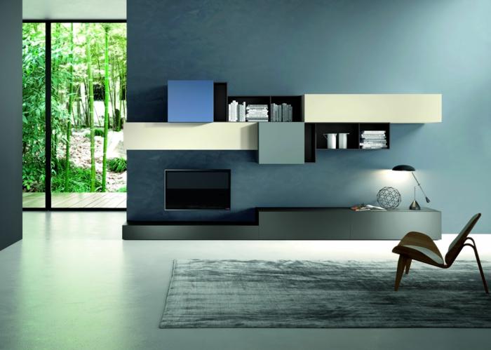 moderne-inneneinrichtung-interessanter-teppich