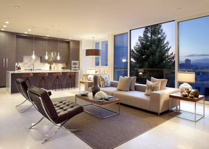 Moderne inneneinrichtung luxus und erste klasse im wohnzimmer