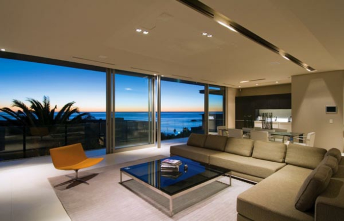 moderne w nde wohnzimmer. Black Bedroom Furniture Sets. Home Design Ideas