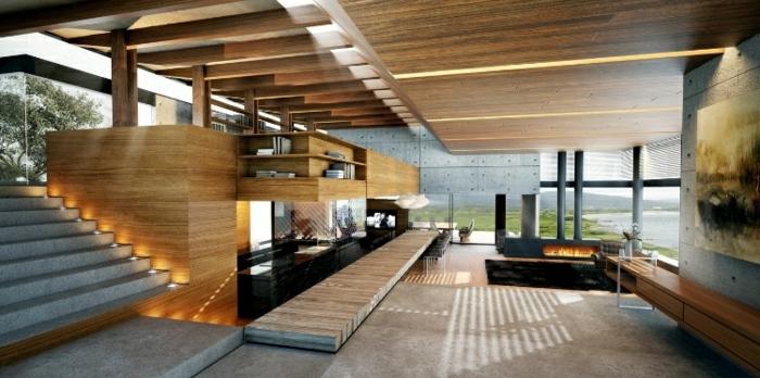 moderne inneneinrichtung wohnzimmer:modernes wohnzimmer einrichten – interessante beleuchtung