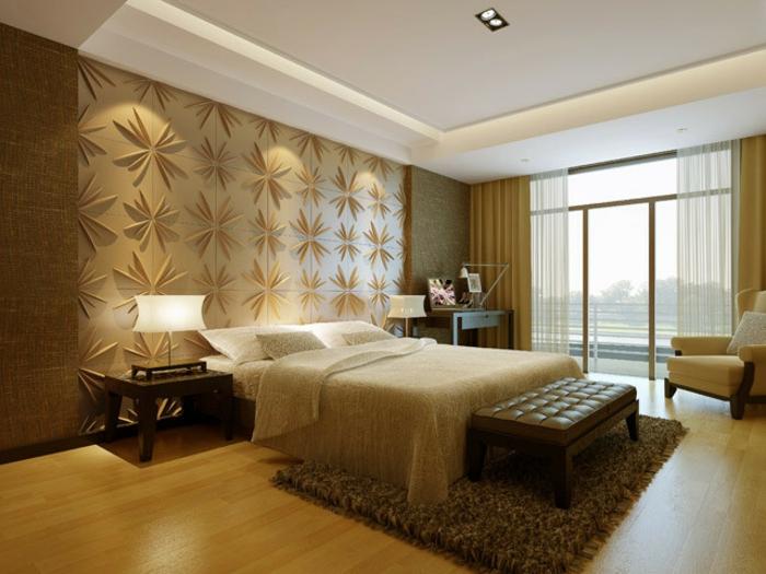 3d wandpaneele 37 wundersch ne beispiele. Black Bedroom Furniture Sets. Home Design Ideas