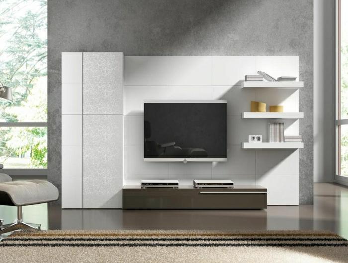 Modernes Wohnzimmer Gestalten Wohnzimmer Einrichten Wandpaneele Tv Wand