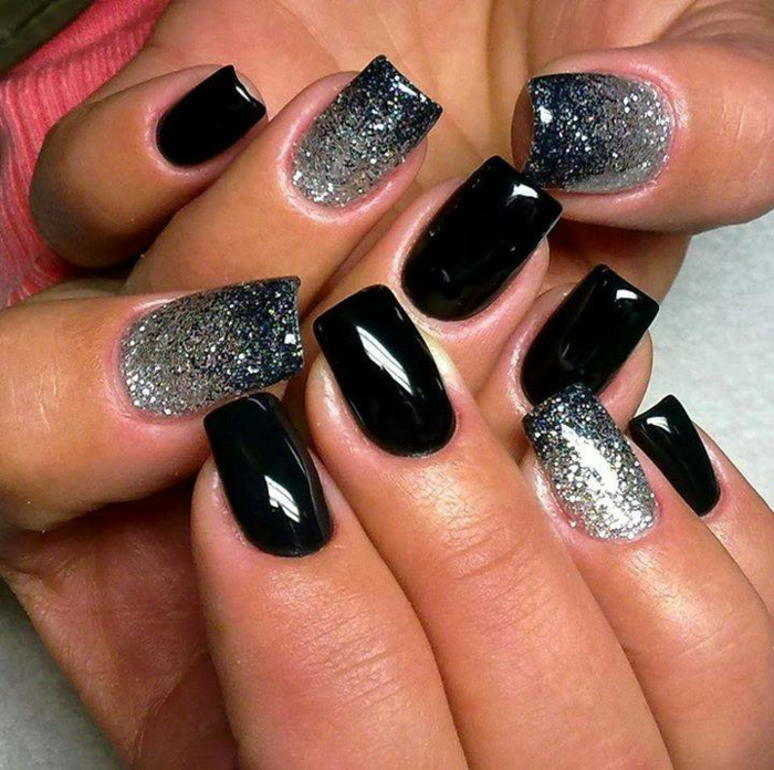 33 Super Ideen Fu00fcr Nageldesign In Schwarz! - Archzine.net