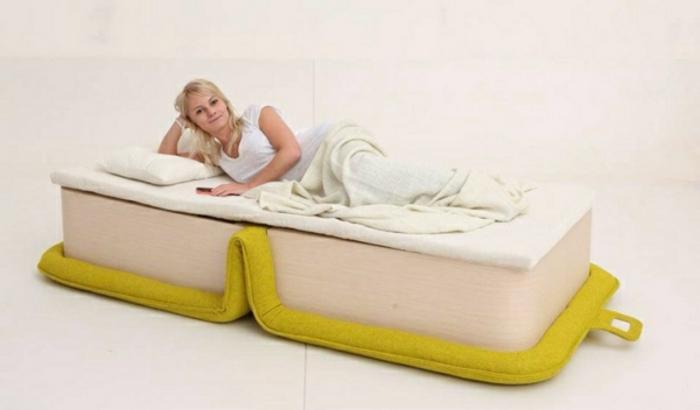 originelle-bett-ideen-elegantes-modell-in-gelber-farbe