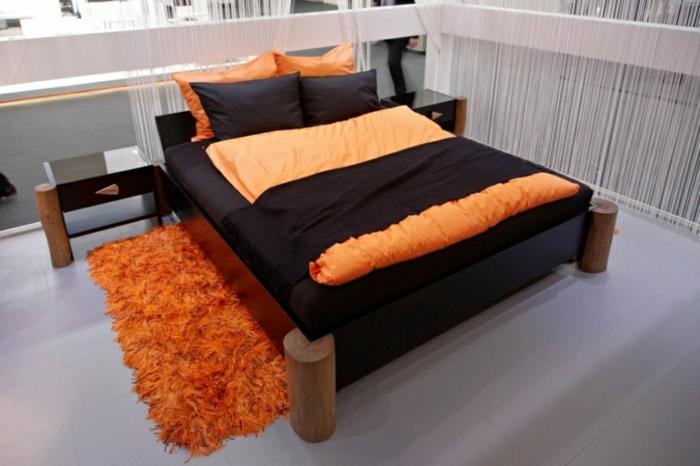 originelle-bett-ideen-orange-modell-sehr-schick