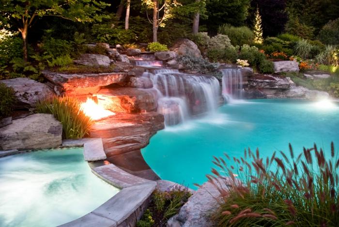 Awesome Backyard Pool Ideas : unglaubliche pool bilder  feuerstelle ganz neben dem wasser