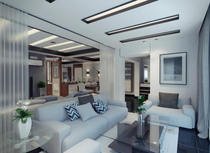 raumtrennung-ideen-elegantes-wohnzimmer-mit-blauen-möbel