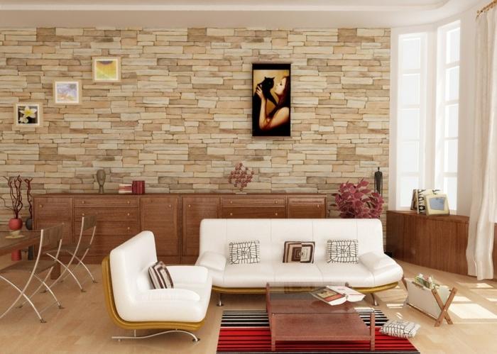 Wohnideen Wohnzimmer Steinwand 37 einmalige modelle retro wohnzimmer archzine
