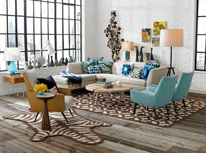 wohnzimmer sessel retro:wohnen vintage – retro möbel im wohzimmer