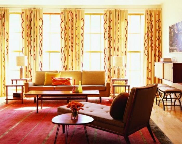 retro farben wohnzimmer:retro wohnzimmer und attraktive möbel – vintage wohnen