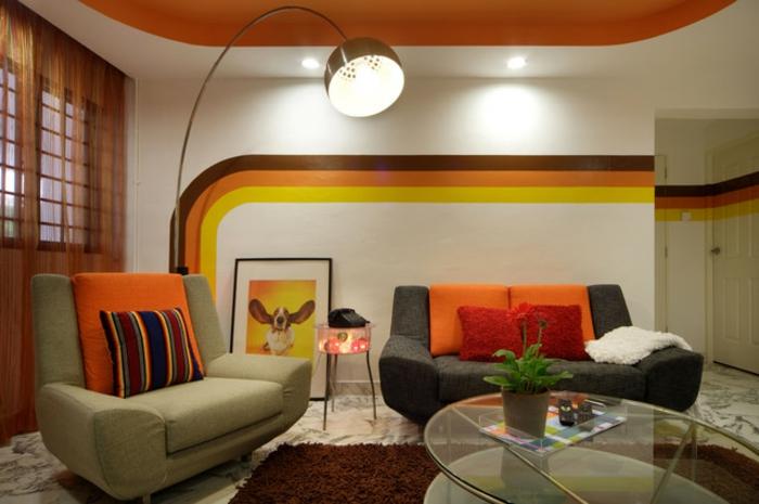 retro farben wohnzimmer:tolles vintage wohnzimmer – retro möbel