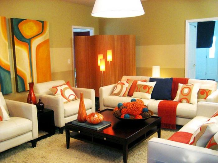 retro-wohnzimmer-kleines-gemütliches-modell - deko vintage