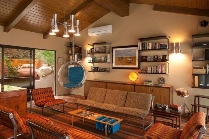 bilder wohnzimmer retro:vintage wohnen – retro wohnzimmer mit retro möbel