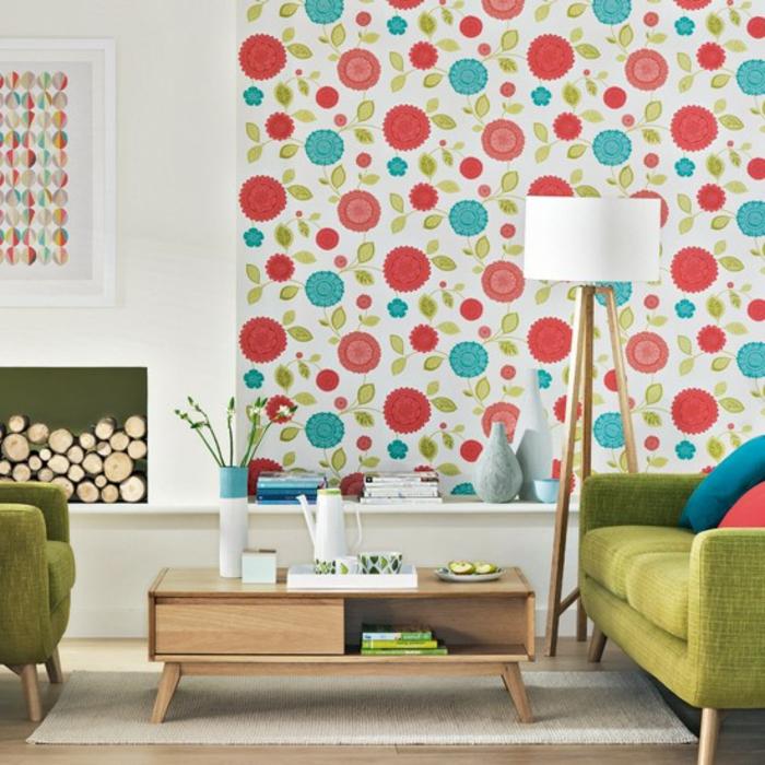 retro-wohnzimmer-wunderschöne-tapete