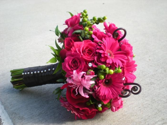 Blumensträuße-rosa-Gerberas