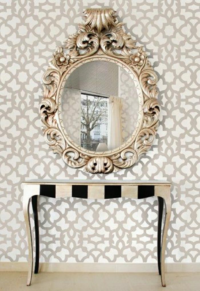 Die barock tapete in 48 wundersch nen design ideen - Como colocar un espejo encima de un aparador ...