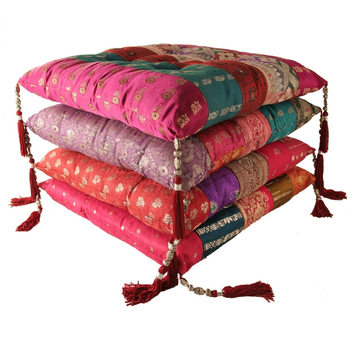 Stuhlkissen 30 sch ne und bequeme modelle for Kissen orientalischen stil