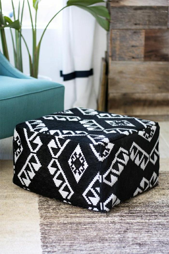 schwarz-weißes-kissen-bodensitzkissen-sitzkissen-für-zuhause-pouf-sitzkissen