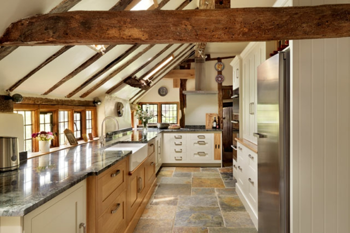 shabby chic kche kreatives interieur von einer dachwohnung - Gestaltung Dachwohnung