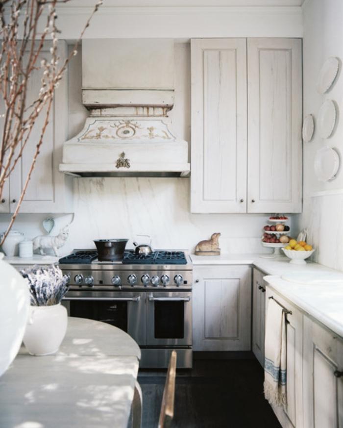 Großzügig Welche Farbe In Der Küche Wände Mit Weißen Schränken Zu ...