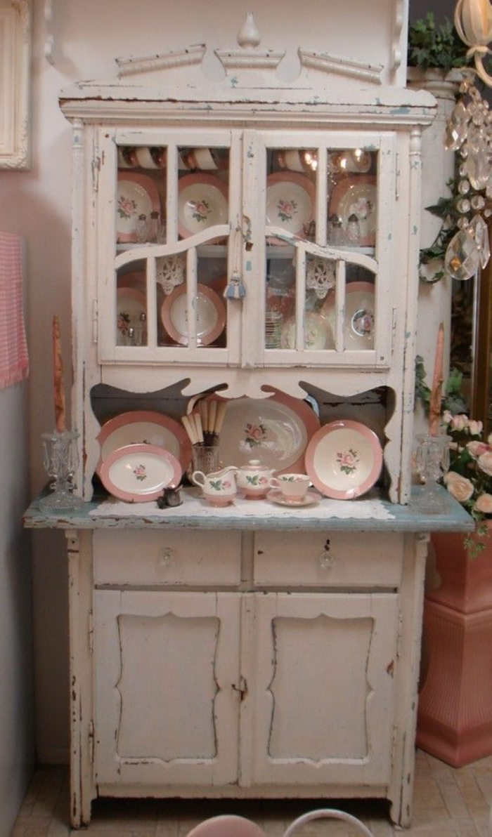44 tolle designs von shabby chic k che for Shabby chic schrank